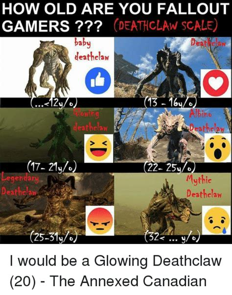 Deathclaw Meme - how old are you fallout gamers d claw scale baby deathclaw