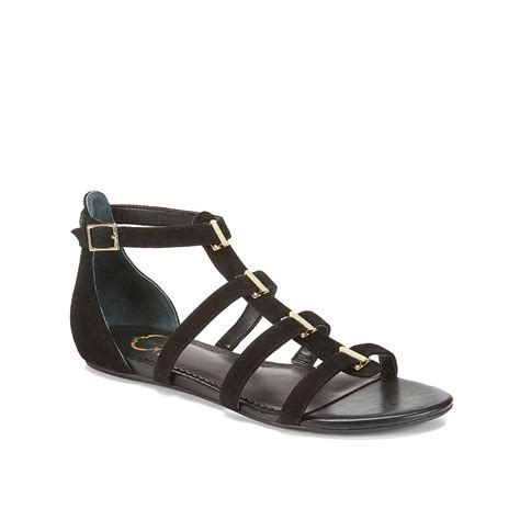 black sandals c suede gladiator sandal in black lyst