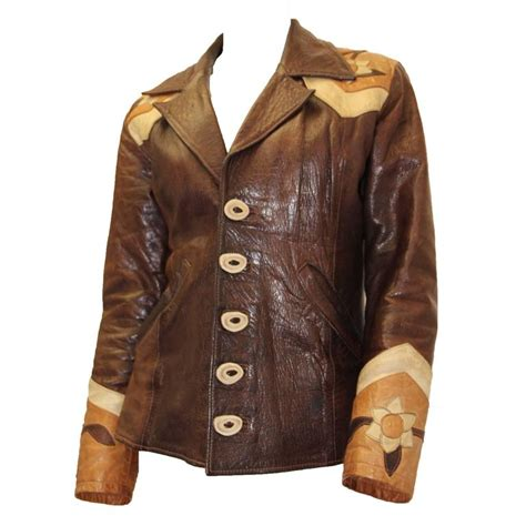 Handmade Leather Clothing - late 1960s handmade leather jacket for sale at 1stdibs
