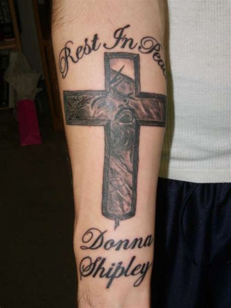 tattoo cross rip rip cross tattoo