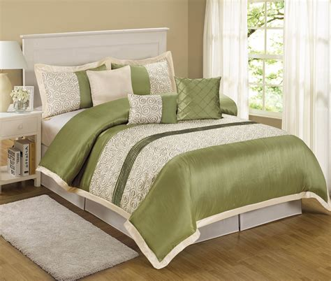 beige queen comforter set 7 piece queen liverpool sage beige comforter set ebay