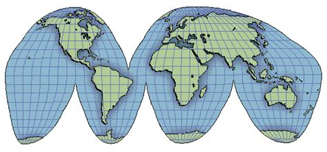 map projection geography for one world types of maps