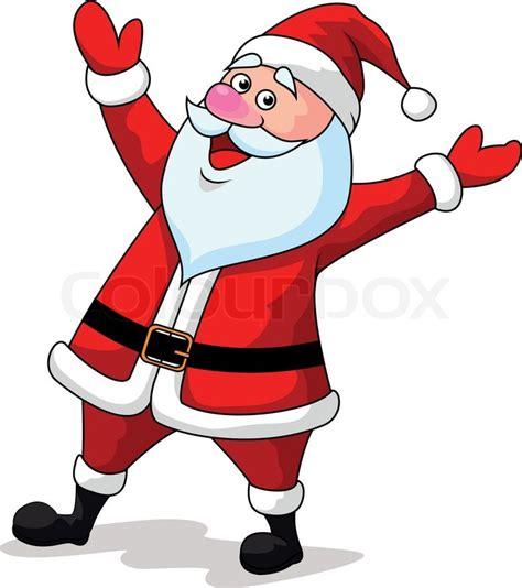 anmated waving snata vector illustration of santa clause waving stock vector colourbox