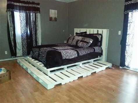 diy white pallet platform bed  pallets