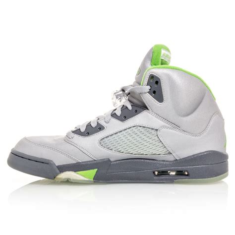 air retro 5 basketball shoes air 5 retro mens basketball shoes silver green