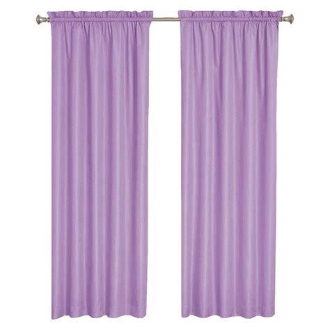 Purple Curtains Sun Zero Plum Tom Thermal Lined Curtain Panel 40 In W X