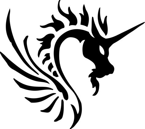 clipart tribal dragon 45