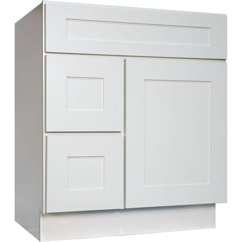 30 inch bathroom vanity single sink cabinet in white