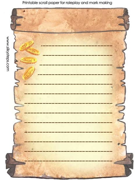 scroll paper template printable scroll template lined colour printable activity sheet jpg