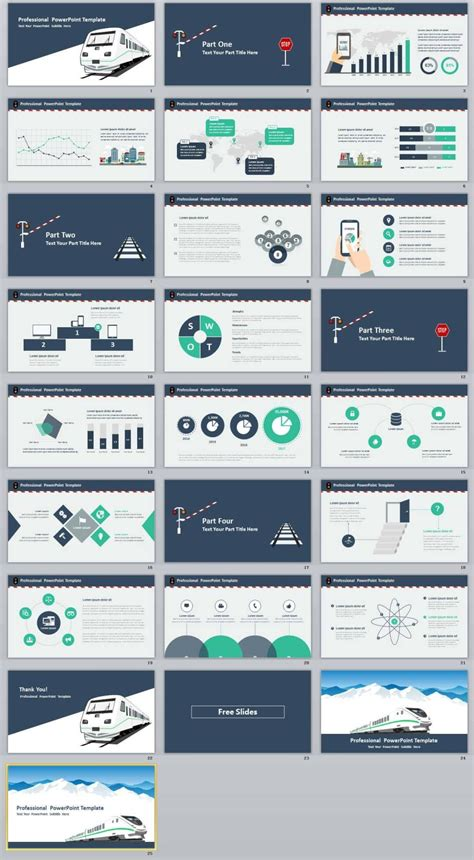 free business presentation design powerpoint template or google