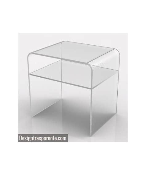 comodini plexiglass comodino con ripiano 40x30h45 in plexiglass trasparente