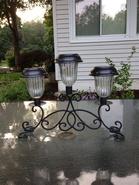 Solar Patio Table Lights Solar Light Table Sconce Bright Lights For A Patio Table Made With A Sconce Bought At A Home