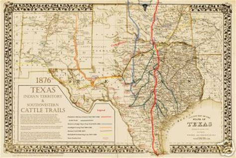 texas cattle trails map adobe western gallery