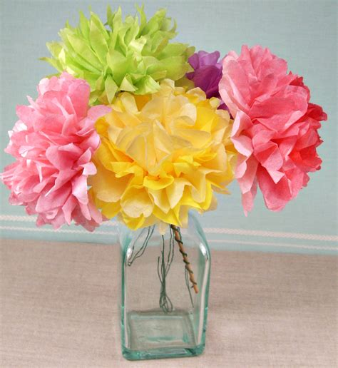Flowers With Papers - tissue paper flowers for