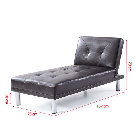 leather single sofa bed westwood chaise longue single sofa bed 1 seater faux