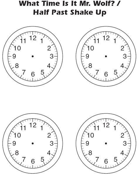 Blank Clock Worksheets by Clock Worksheet