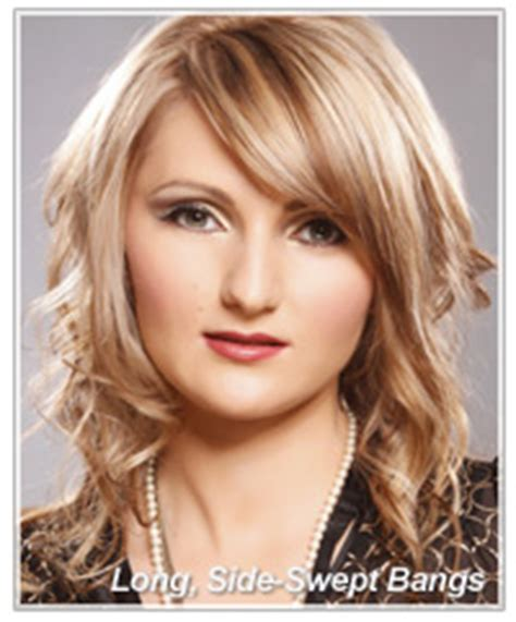 side swept bangs oblong face the right bangs for your oblong face shape thehairstyler com