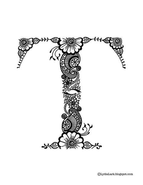 henna design letters lydia lark henna alphabet letter quot t quot printable