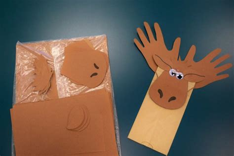 paper bag crafts for preschool moose crafts for preschoolers
