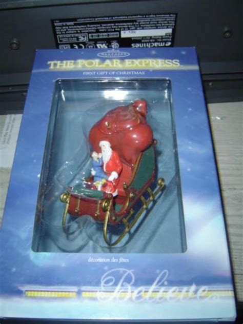 hallmark the polar express first gift of christmas 2004
