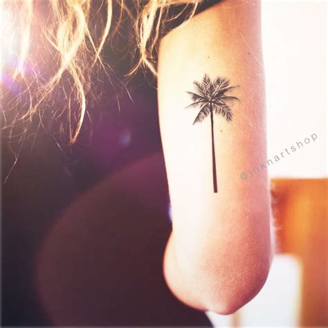 fake wrist tattoos 2pcs palm tree 2 sizes inknart temporary