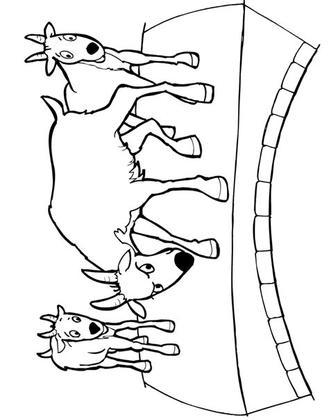 Free Coloring Pages Of Billy Goat Gruff Troll Three Billy Goats Gruff Coloring Page
