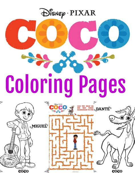 coco coloring book disney pixar coco coloring pages for boys and books disney pixar coco coloring pages activity sheets the