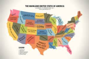 the united states in the world map map of the united states according to common sense