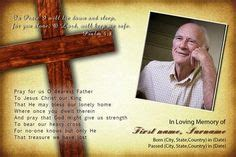 funeral holy card template heaven single fold memorial program microsoft word