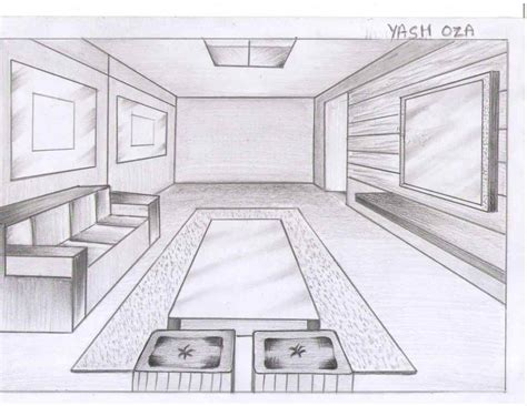 More About Interior Design Bedroom Sketches One Point