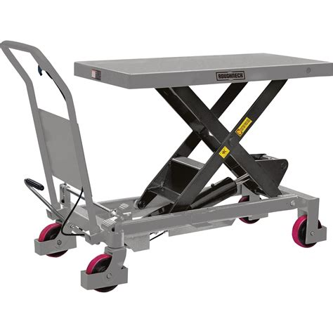 Roughneck Hydraulic Lift Table Cart 2 200 Lb Capacity Hydraulic Lift Table