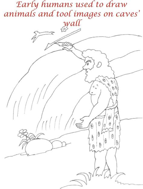 early humans coloring page early humans printable coloring page for kids 17