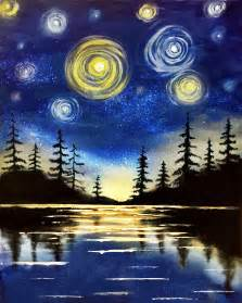 Paint Nite Starry Lake At Miller S Ale House Lake Grove Paint
