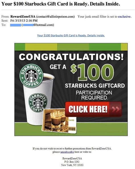 Starbucks Gift Card Text - the phishing gallery april 2013 the security advocate