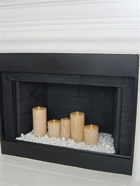 candles in fireplace best 25 candles in fireplace ideas on