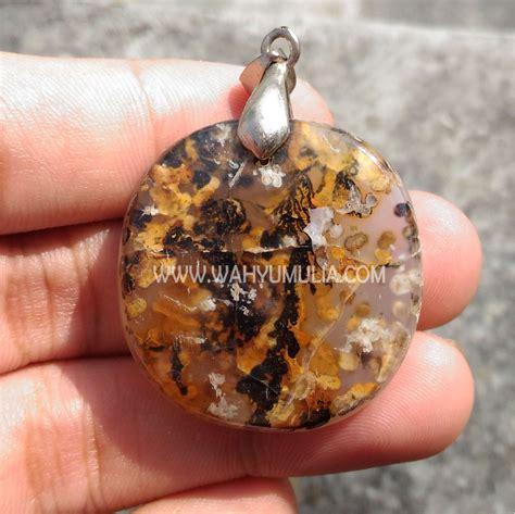 Batu Akik Ukuran Liontin liontin batu akik motif kulit macan antik kode 360