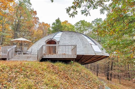 new paltz house in the shape of a flying saucer that