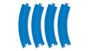 Curve rail 4 pcs tomy blue track r03 train rails ebay