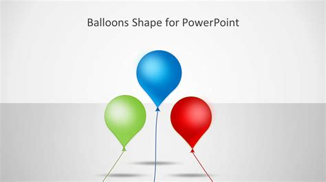 Shape Balloon balloons shape for powerpoint slidemodel