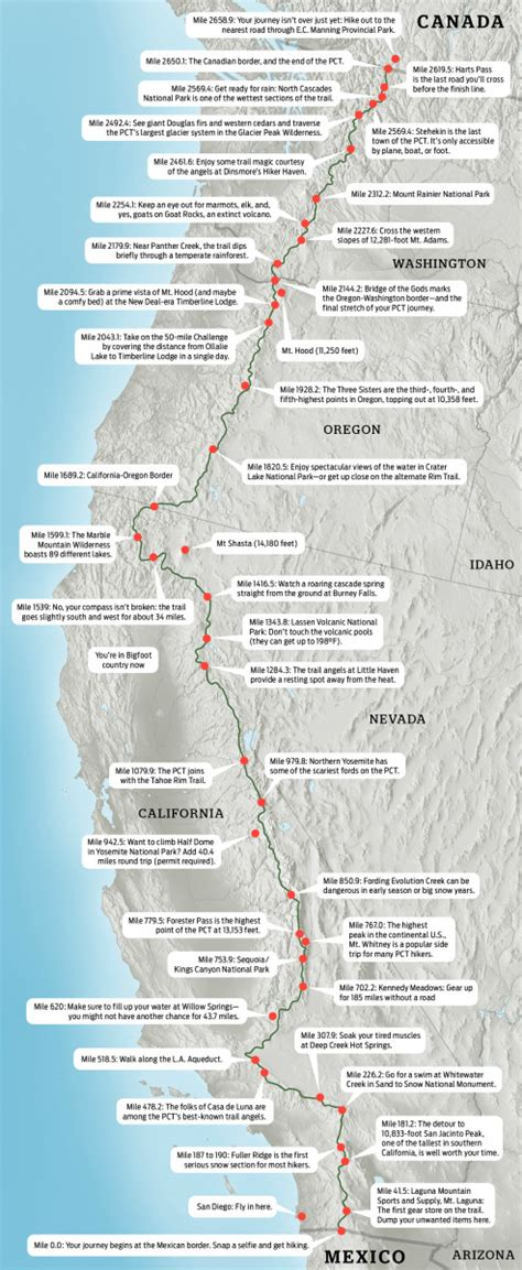 pct oregon map pacific crest trail map backpacker