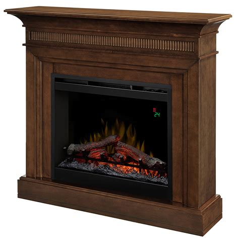 harleigh electric fireplace mantel package in walnut