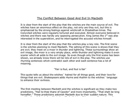 Macbeth Essay by Macbeth Essays Evil Writefiction581 Web Fc2