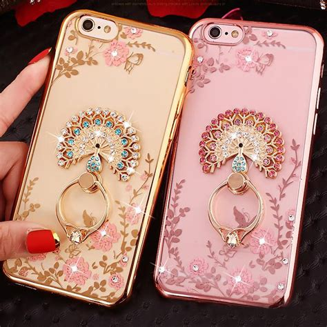 For Iphone 6 6s Plus Luxury Flower Bling Fashion So T0310 new luxury secret garden flowers rhinestone cell phone cases for iphone 7 plus 6 6s 5 huawei p10