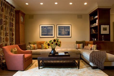 shaker beige walls living room contemporary with dark