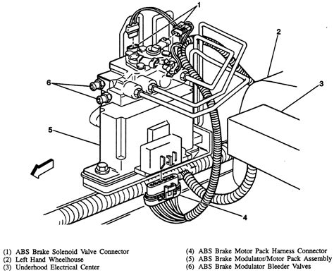 repair anti lock braking 1998 volkswagen passat on board diagnostic system repair guides anti lock brake system abs abs hydraulic modulator motor pack assembly