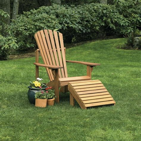 adirondack chair and ottoman craftsman adirondack chair and ottoman
