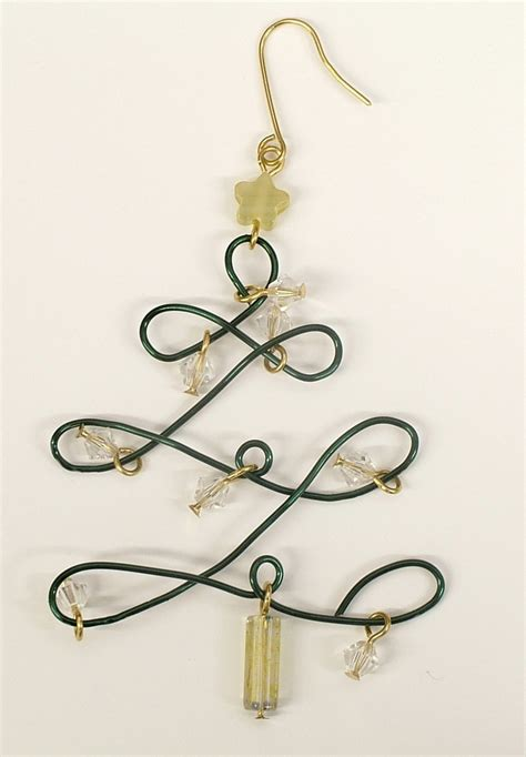 simple wire christmas tree earrings jewelry how to