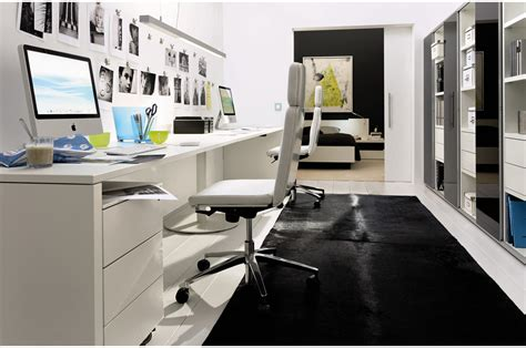 Design Home Office Layout by Compact White Home Office Design Stylehomes Net
