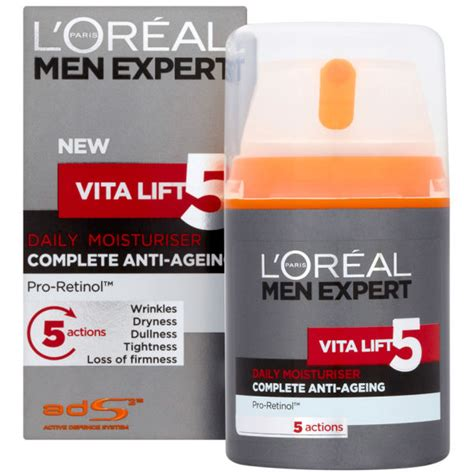 l oreal expert vita lift 5 daily moisturiser 50ml 1 7oz kogan l oreal expert vita lift 5 daily moisturiser 50ml buy mankind