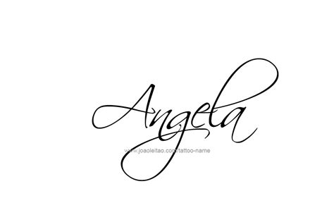 tattoo design name angela 13 png